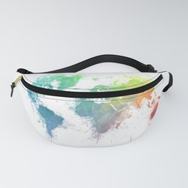 World Map splash 1 Fanny Pack