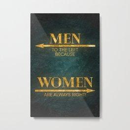 toilet sign male female Metal Print