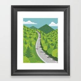 Going uphill Framed Art Print