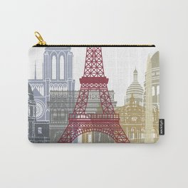 Paris skyline poster Carry-All Pouch