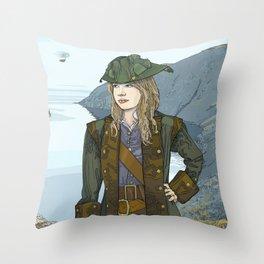 Captain Renny Throw Pillow