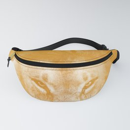 Lion On Gold Metal Fanny Pack