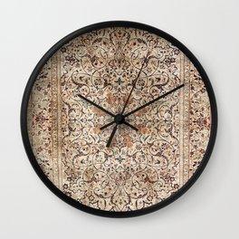 Silk Esfahan Persian Carpet Print Wall Clock