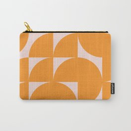Modernist Shapes in Orange Carry-All Pouch
