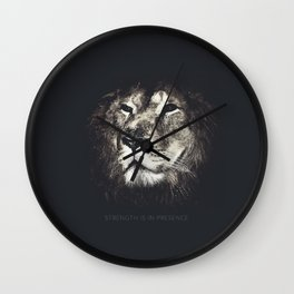 Lion in the dark Wall Clock