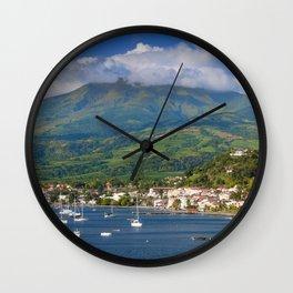 Saint Pierre, Martinique Wall Clock