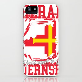 I don't need Therapy, i need  guernsey iPhone Case