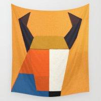 taurus Wall Tapestries featuring Taurus by Fernando Vieira