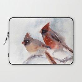 Northern Cardinal Birds Couple Laptop Sleeve
