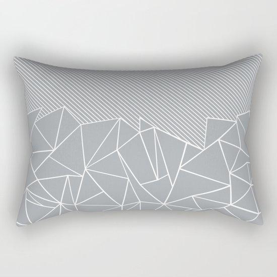 Ab Linear Grey Rectangular Pillow