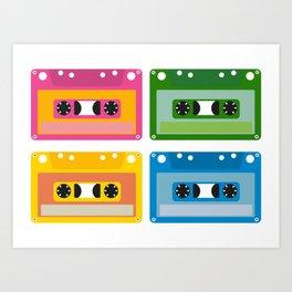 audio cassette Art Print