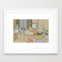 vegetable Framed Art Prints featuring Vegetable Soup by yellow pony
