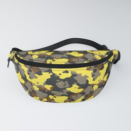 African Bee Modern Camouflage Pattern Fanny Pack