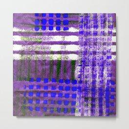 Street Plaid-Ultra Blue Metal Print