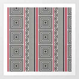 Pattern. Art Print