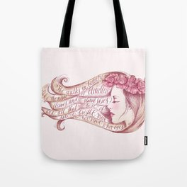 She Walks in Beauty Tote Bag