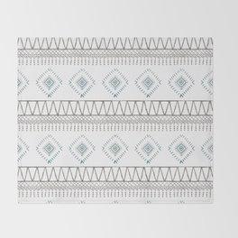 Blue Beige Aztec Throw Blanket