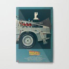 DeLorean Time Machine, Back to the Future Version 2 III/III Metal Print
