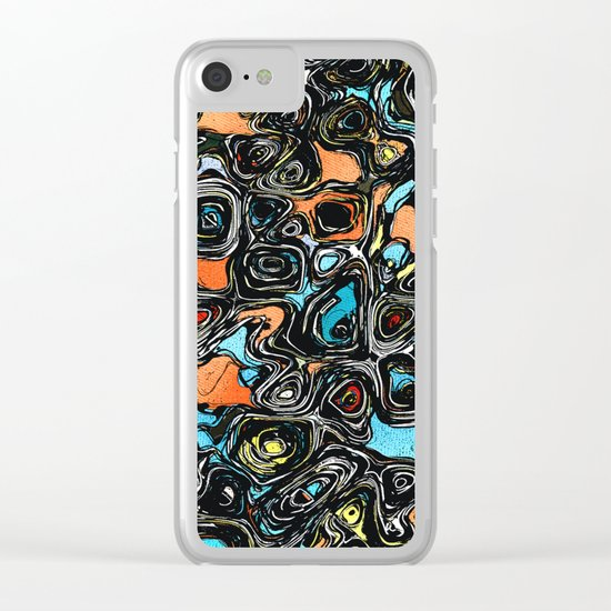 Abstract Shapes And Textures Clear iPhone Case