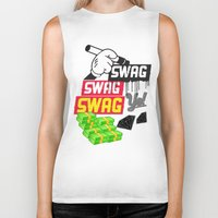 swag Biker Tanks featuring SWAG by Mr. Magenta