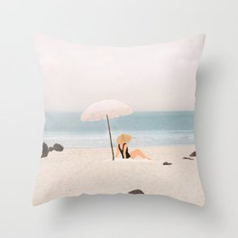 Beach Morning II Throw Pillow