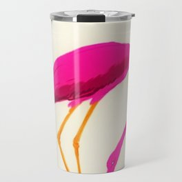 Vintage Carpano Pink Flamingo Motif Vermouth Advertisement Poster Travel Mug