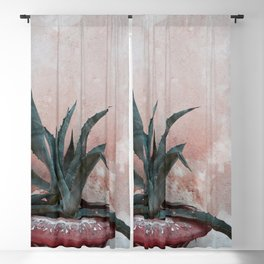 Pink Blue Cactus Blackout Curtain