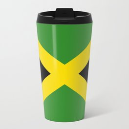 Flag of Jamaica-Jamaican,Bob Marley,Reggae,rastafari,weed,cannabis,ganja,america,south america,ragga Travel Mug
