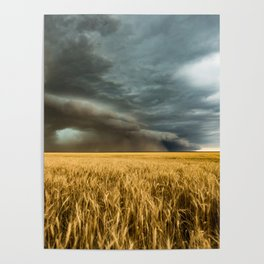 Earth Mover - Storm Advances Across Great Plains in Colorado Poster