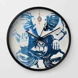 GANESHA indigo Wall Clock