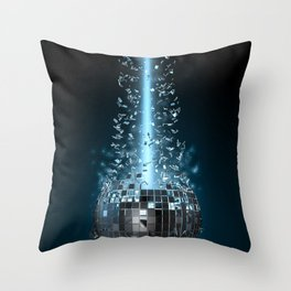 Disco explosion Throw Pillow