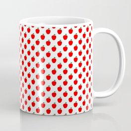 Red Apple Fruit Food Pattern Coffee Mug