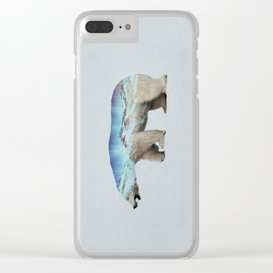 The Arctic Polar Bear Clear iPhone Case