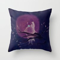 dog Throw Pillows featuring dog by maria elina