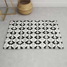 Isometric Chess WHITE Rug
