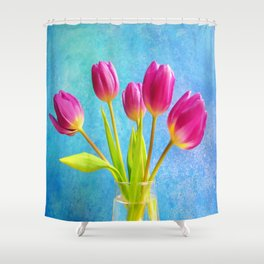 Five Pink Ladys Shower Curtain
