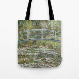 Water Lily Pond (Japanese Bridge) Tote Bag