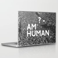 human Laptop & iPad Skins featuring ? Human by WeLoveHumans