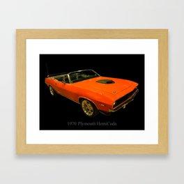 1970 Plymouth Hemicuda Convertible Framed Art Print