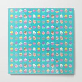 Cupcake sweet dream colourful factory pattern Metal Print