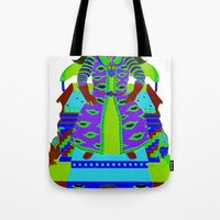 wizard Tote Bags featuring Wizard by Samuel Bell