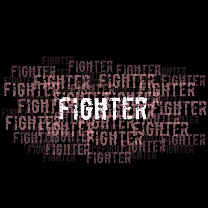 Fighter (On Black) Duvet Cover