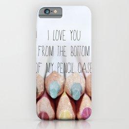 Pencil Case iPhone Case