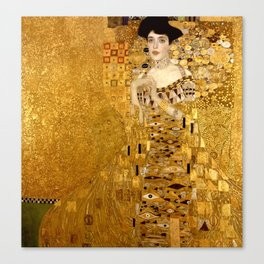 Woman in Gold Portrait by Gustav Klimt Canvas Print