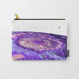 Moon Surface Lavender Carry-All Pouch