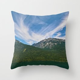 The Way to Valhalla - Lake Slocan, BC, Canada Throw Pillow
