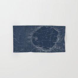Crater Lake Blueprint Map Design Hand & Bath Towel
