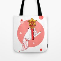 mars Tote Bags featuring Mars by scoobtoobins