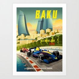 Baku Grand Prix Art Print