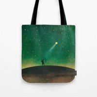 archer Tote Bags featuring Stars Archer by Rowe